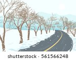 a path that passes through a... | Shutterstock .eps vector #561566248