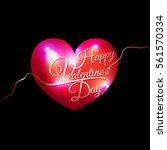 decorative valentines day... | Shutterstock .eps vector #561570334