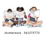Little Children Reading Sittin...