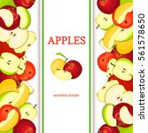 apple vertical seamless border. ... | Shutterstock .eps vector #561578650