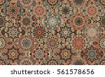 seamless pattern brown... | Shutterstock .eps vector #561578656