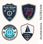 set of emblem  labels marine... | Shutterstock .eps vector #561581446