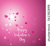 valentine's card with copy... | Shutterstock .eps vector #561582898