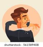 man character shakes off... | Shutterstock .eps vector #561589408