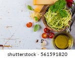 Raw Zucchini Pasta And...