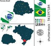 vector map of region of parana... | Shutterstock .eps vector #561597184