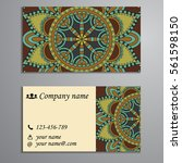 invitation  business card or... | Shutterstock .eps vector #561598150