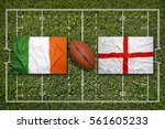 ireland vs. england flags on... | Shutterstock . vector #561605233