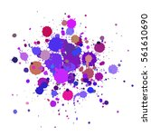 vector color drops of paint and ... | Shutterstock .eps vector #561610690