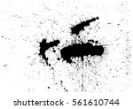 vector black drops of paint and ... | Shutterstock .eps vector #561610744