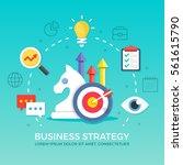 business strategy. flat design... | Shutterstock .eps vector #561615790