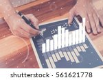 business statistics success... | Shutterstock . vector #561621778