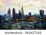 city of london multiple ... | Shutterstock . vector #561627163