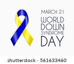 blue and yellow ribbon  world... | Shutterstock .eps vector #561633460