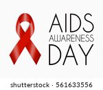 aids awareness day poster. red... | Shutterstock .eps vector #561633556