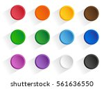 set round multi colored buttons ...   Shutterstock .eps vector #561636550