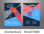 blue vector annual report... | Shutterstock .eps vector #561637084