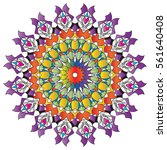 mandala. decorative round... | Shutterstock .eps vector #561640408