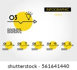 yellow linear infographic set... | Shutterstock .eps vector #561641440