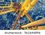 offshore drill yellow and gas... | Shutterstock . vector #561644896