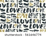 seamless pattern with love... | Shutterstock .eps vector #561646774