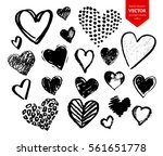 vector hand drawn collection of ... | Shutterstock .eps vector #561651778
