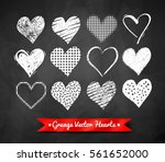 vector chalked collection of... | Shutterstock .eps vector #561652000