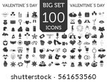 valentine s day icon set.... | Shutterstock .eps vector #561653560