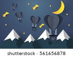 hot air balloons in the shape... | Shutterstock .eps vector #561656878