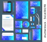 blue set of vector corporate... | Shutterstock .eps vector #561658198