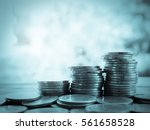 stack of money  rows of coins... | Shutterstock . vector #561658528