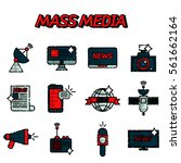 mass media flat icons set | Shutterstock .eps vector #561662164