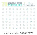 vector graphic set. icons in... | Shutterstock .eps vector #561662176
