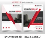 red abstract triangle annual... | Shutterstock .eps vector #561662560