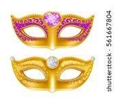 mardi gras carnaval golden mask ...