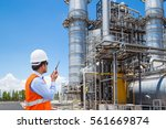 engineer working at thermal... | Shutterstock . vector #561669874