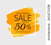sale final up to 50  off sign... | Shutterstock .eps vector #561671338