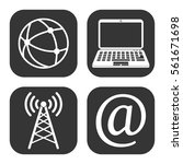 internet and wi fi icons vector ... | Shutterstock .eps vector #561671698