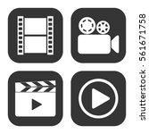 video icons vector set on gray  ... | Shutterstock .eps vector #561671758