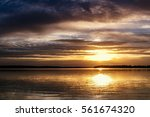 Sunset Over Lake Thunderbird In ...