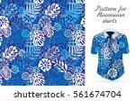 tropical aloha pattern. vector... | Shutterstock .eps vector #561674704