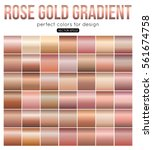 rose gold gradient perfect... | Shutterstock .eps vector #561674758
