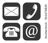 communication web icons vector... | Shutterstock .eps vector #561674830