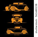 set of hot rod or vintage... | Shutterstock .eps vector #561680158