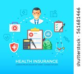 health insurance. healthcare ... | Shutterstock .eps vector #561681466