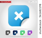colored icon or button of cross ... | Shutterstock .eps vector #561682198