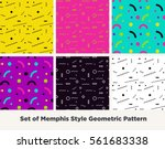 hipster fashion memphis style... | Shutterstock .eps vector #561683338