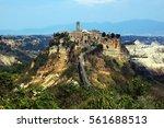 Beautiful view on the old town Civita di Bagnoregio, Lazio, Italy