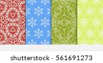 set of floral ornament.... | Shutterstock .eps vector #561691273
