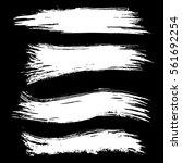 black ink vector brush strokes... | Shutterstock .eps vector #561692254